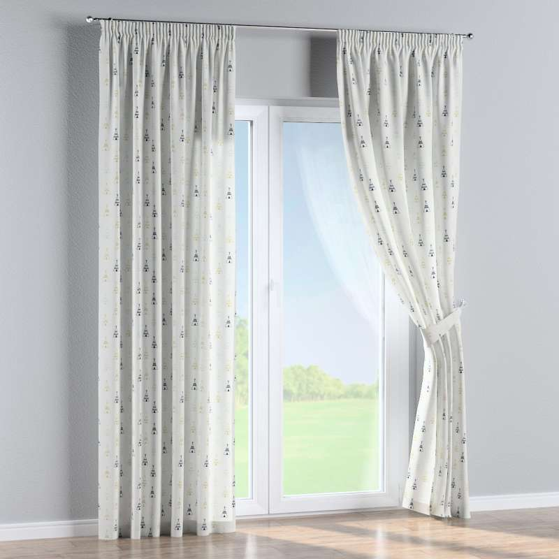 Pencil pleat curtain in collection Adventure, fabric: 141-84