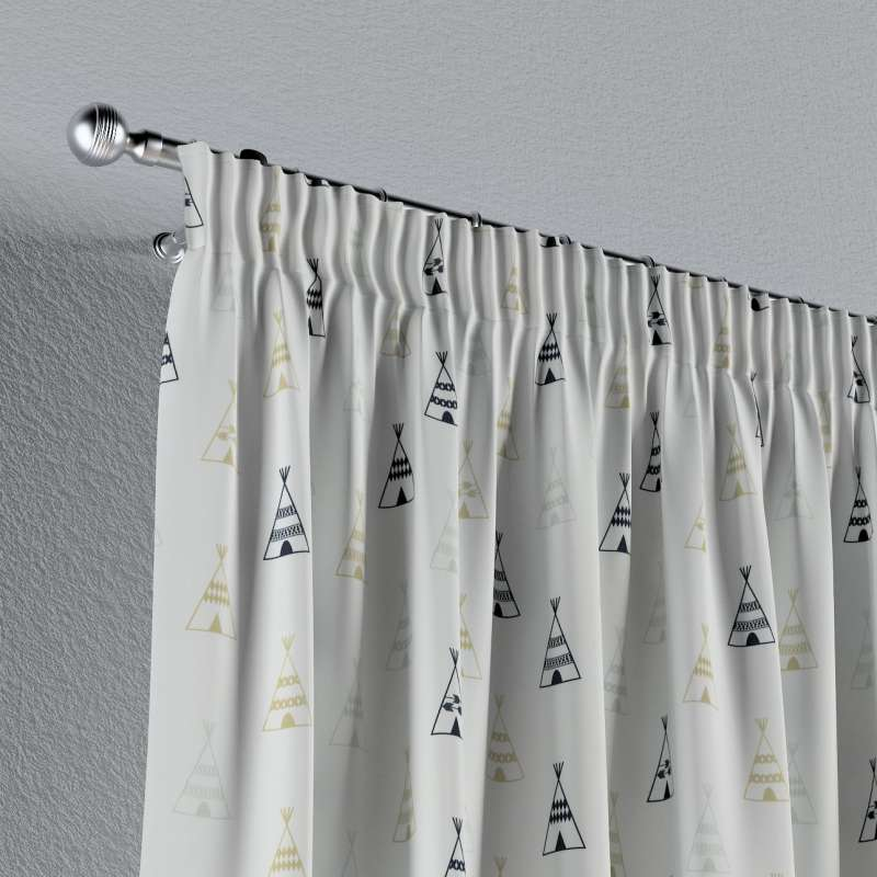 Vorhang mit Kräuselband von der Kollektion Adventure, Stoff: 141-84