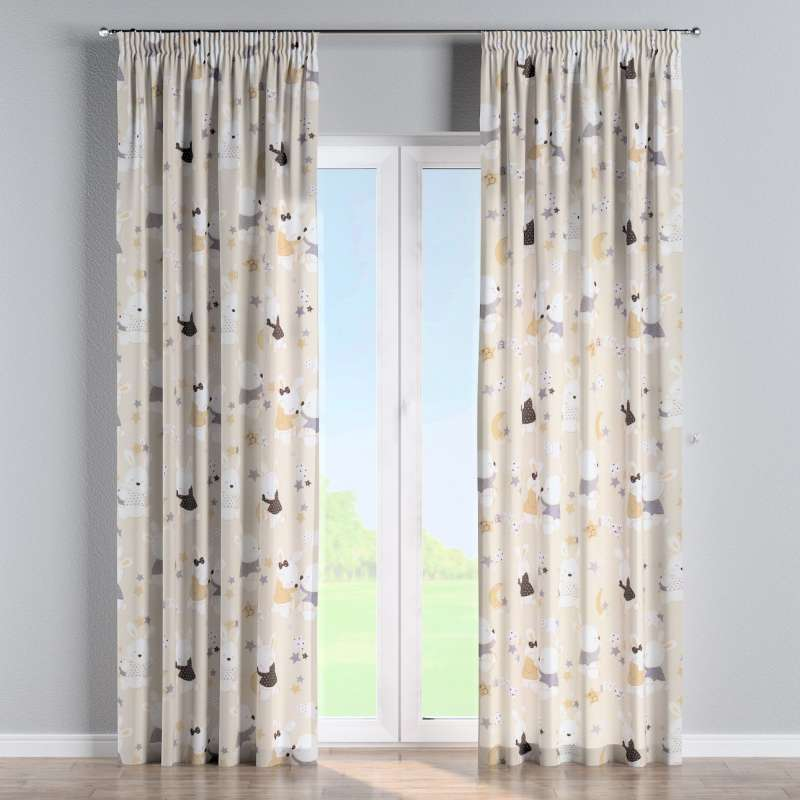 Pencil pleat curtain in collection Adventure, fabric: 141-85