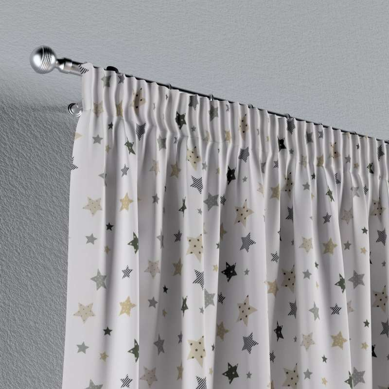Pencil pleat curtains in collection Adventure, fabric: 141-86