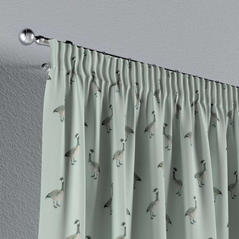 Pencil pleat curtain in collection Flowers, fabric: 141-79