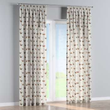 Pencil pleat curtains in collection Flowers, fabric: 141-80