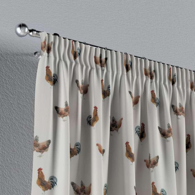 Vorhang mit Kräuselband von der Kollektion Flowers, Stoff: 141-80