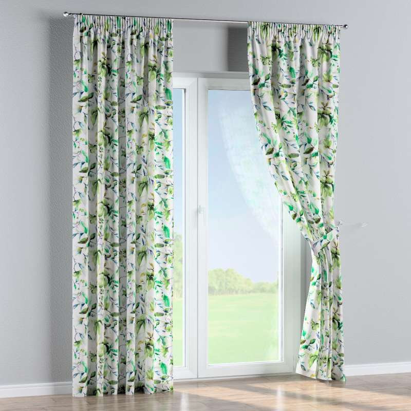 Pencil pleat curtain in collection Velvet, fabric: 704-20