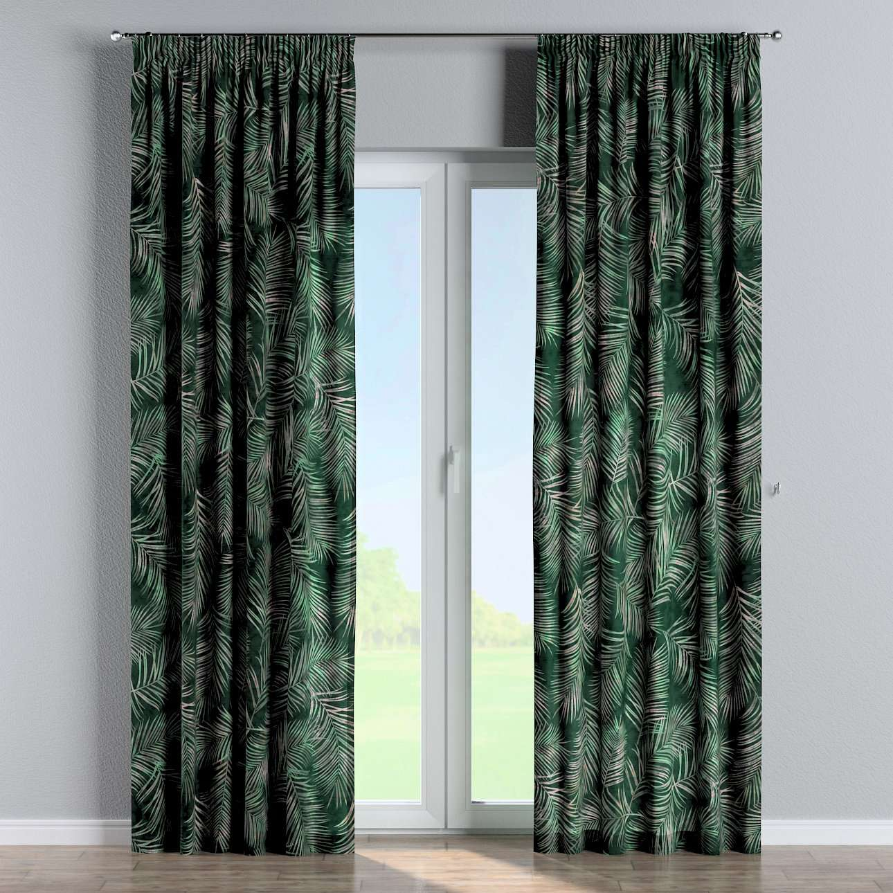 Pencil pleat curtains in collection Velvet, fabric: 704-21