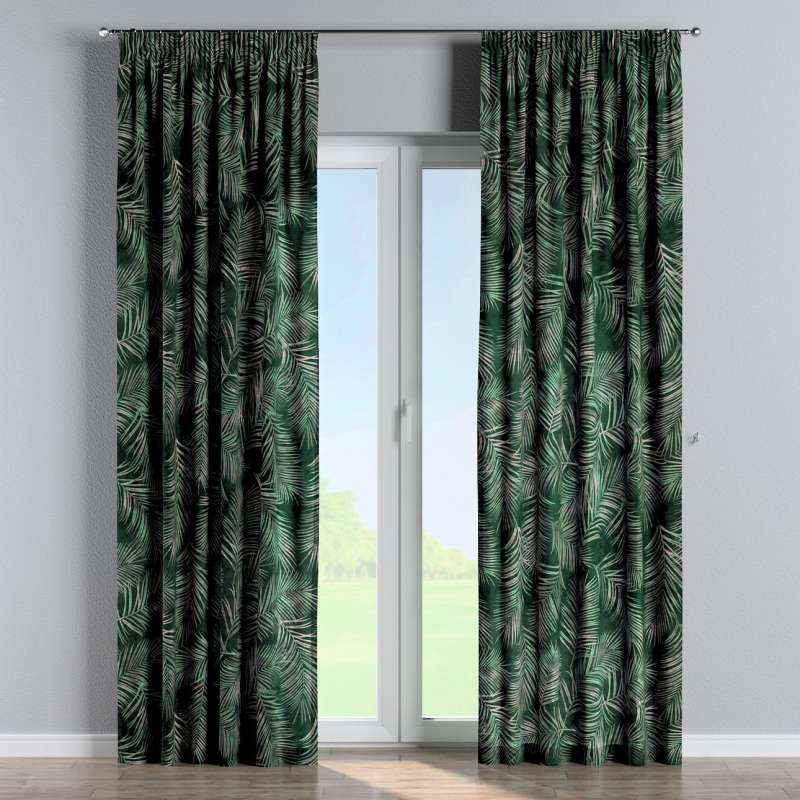Pencil pleat curtain in collection Velvet, fabric: 704-21