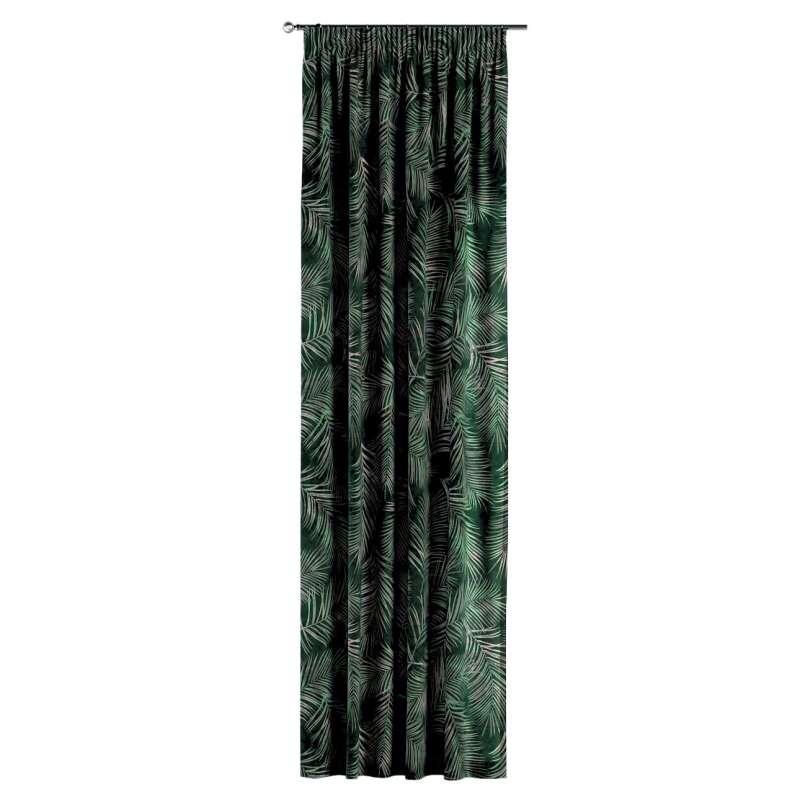 Gardin med rynkband 1 längd i kollektionen Velvet, Tyg: 704-21