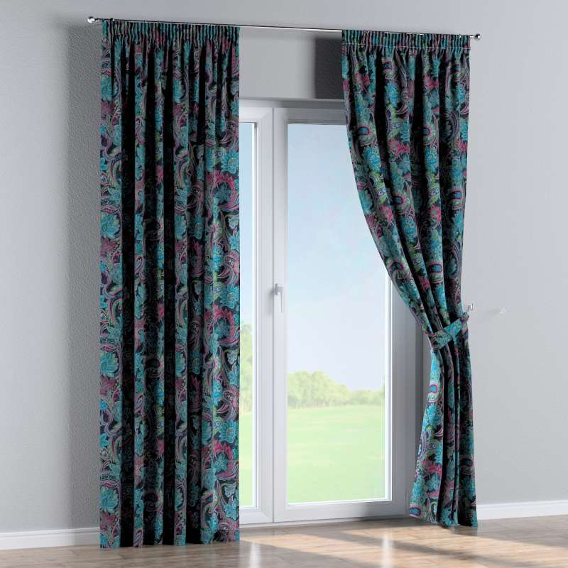Pencil pleat curtain in collection Velvet, fabric: 704-22