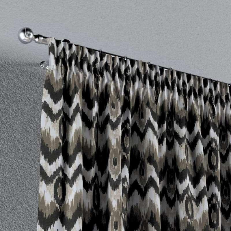 Gardin med rynkband 1 längd i kollektionen Modern, Tyg: 141-88
