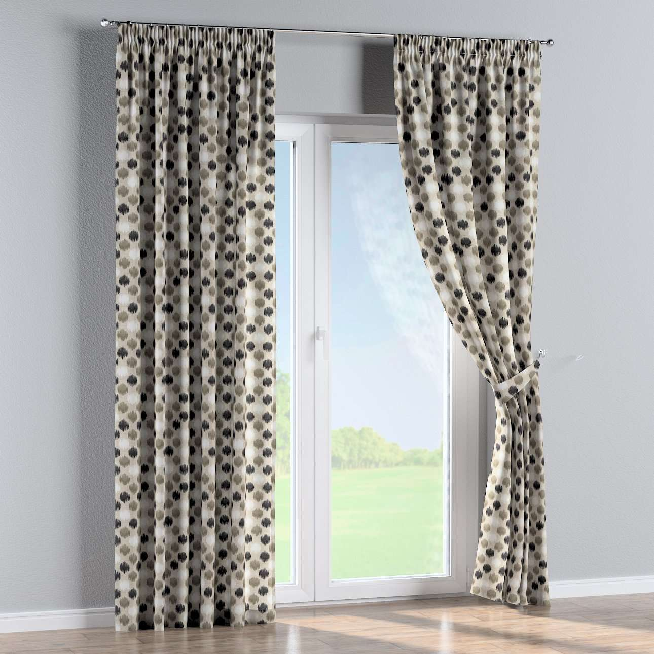 Pencil pleat curtains in collection Modern, fabric: 141-89