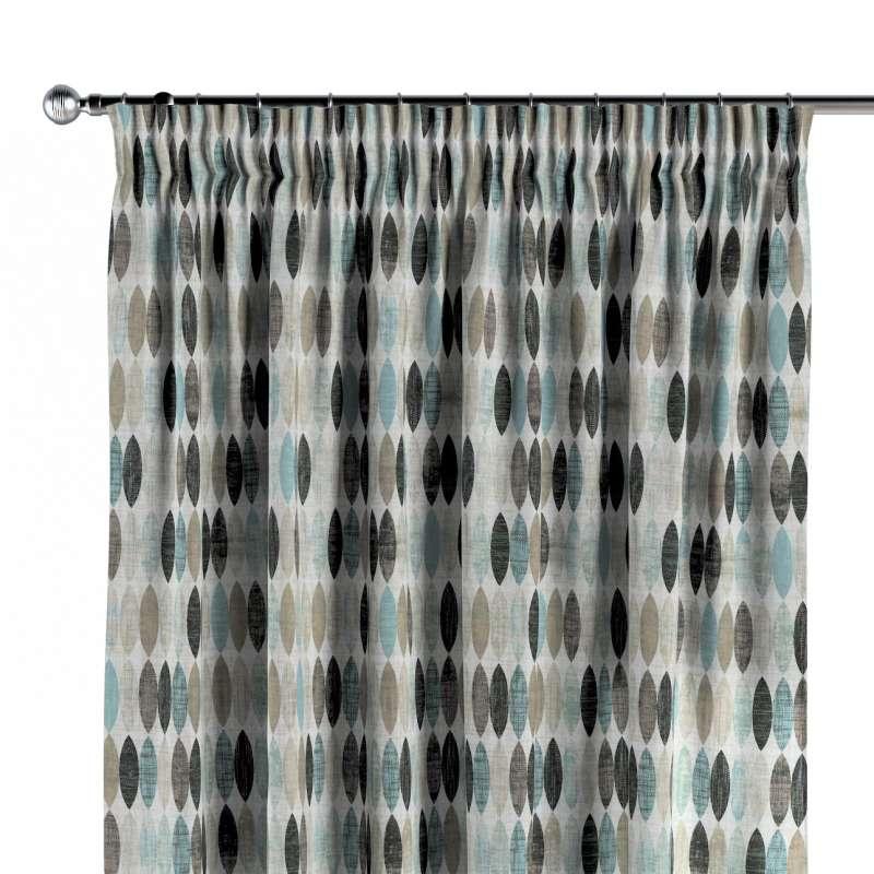 Gardin med rynkband 1 längd i kollektionen Modern, Tyg: 141-91