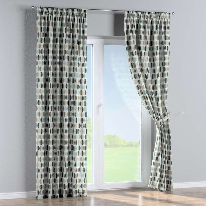 Pencil pleat curtain in collection Modern, fabric: 141-91