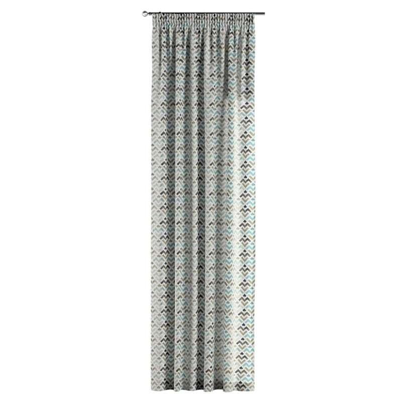 Gardin med rynkband 1 längd i kollektionen Modern, Tyg: 141-93