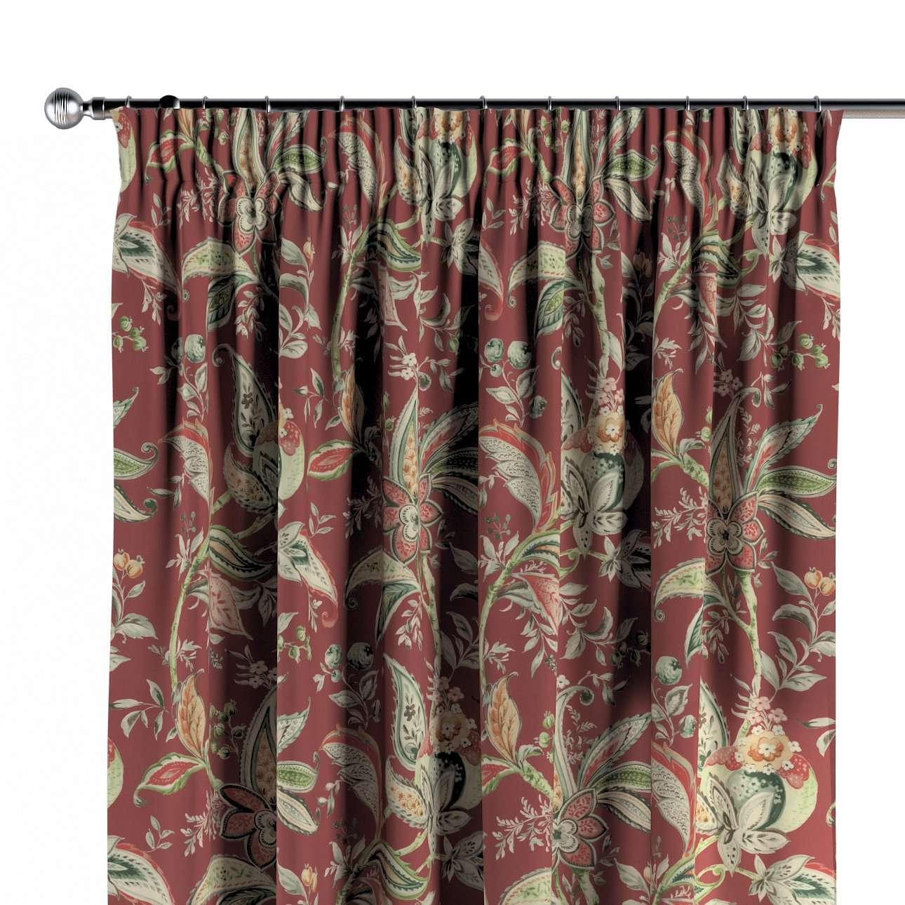 Zasłona na taśmie marszczącej 1 szt. w kolekcji Gardenia, tkanina: 142-12