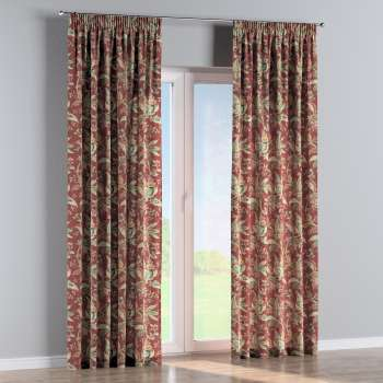 Pencil pleat curtains in collection Gardenia, fabric: 142-12