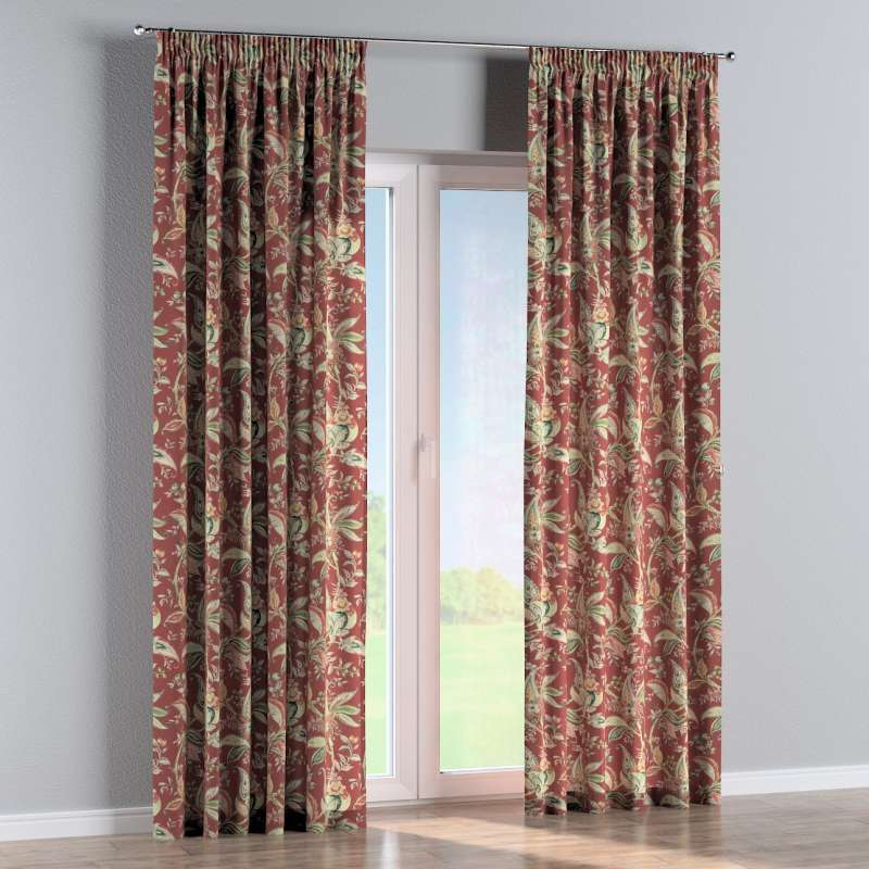 Pencil pleat curtain in collection Gardenia, fabric: 142-12