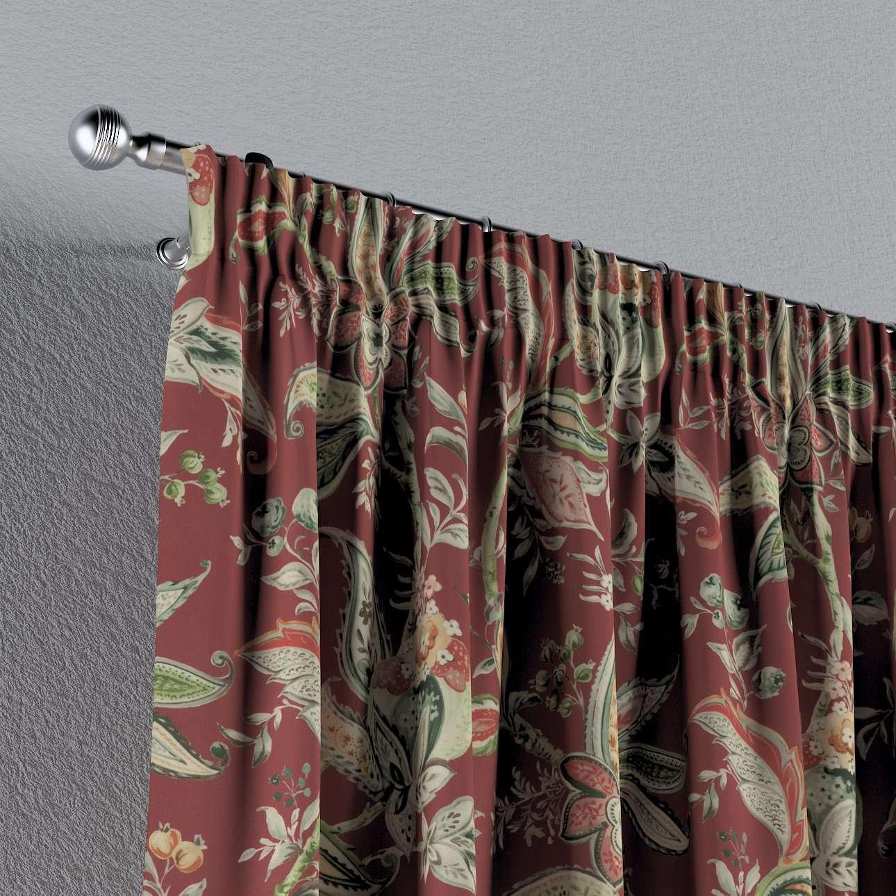 Záves na riasiacej páske V kolekcii Gardenia, tkanina: 142-12