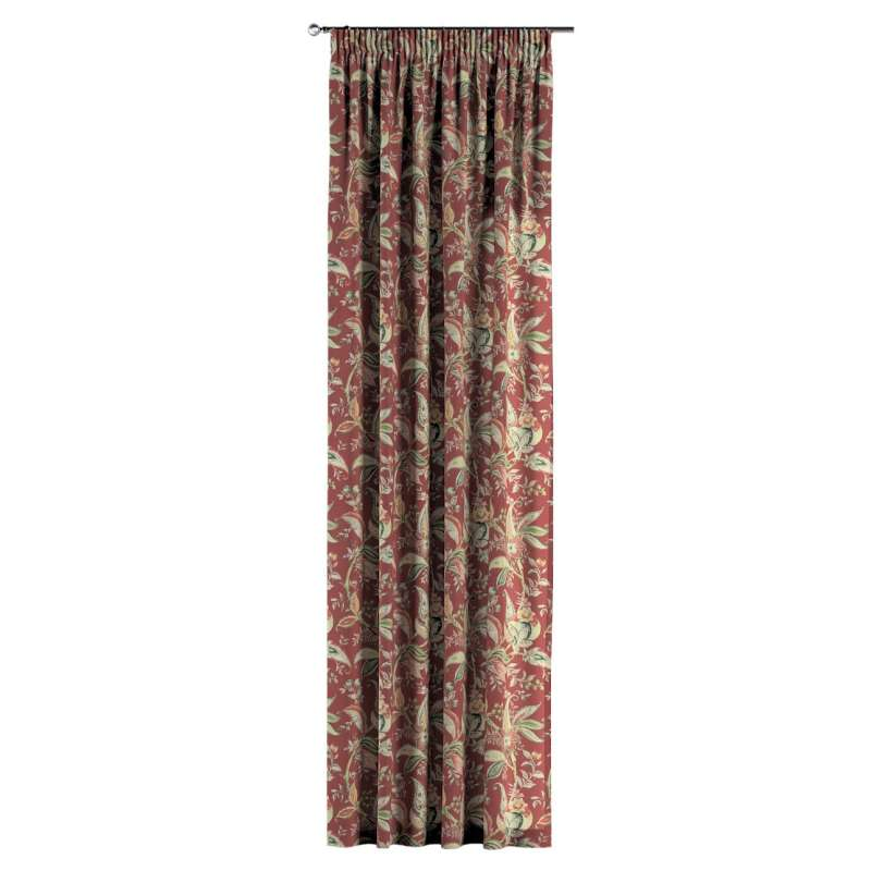 Vorhang mit Kräuselband von der Kollektion Gardenia, Stoff: 142-12