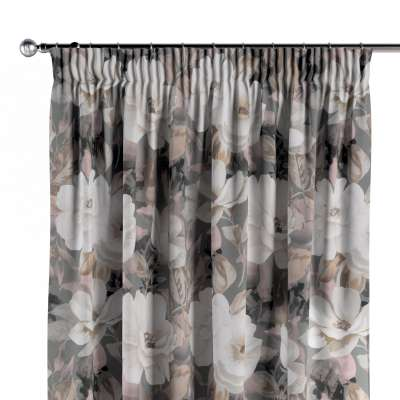 Vorhang mit Kräuselband 142-13 grau-rosa Kollektion Gardenia