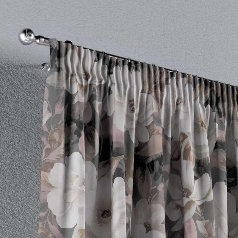 Pencil pleat curtain in collection Gardenia, fabric: 142-13