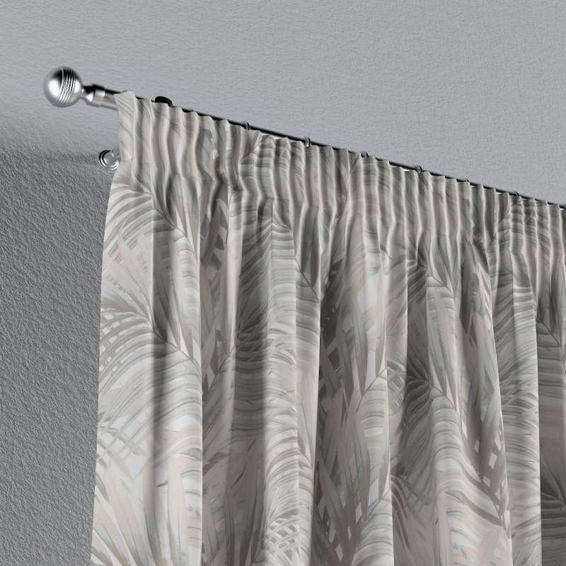Vorhang mit Kräuselband von der Kollektion Gardenia, Stoff: 142-14
