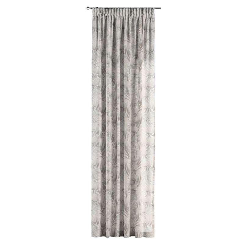 Gardin med rynkband 1 längd i kollektionen Gardenia, Tyg: 142-14