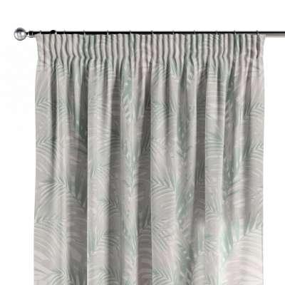 Vorhang mit Kräuselband 142-15 weiß-grün Kollektion Gardenia