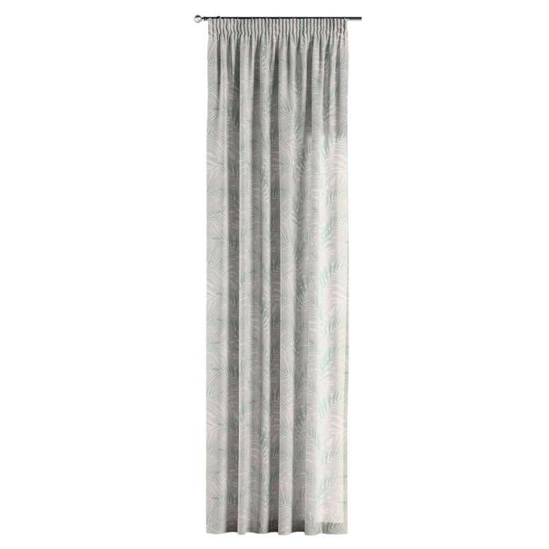Gardin med rynkband 1 längd i kollektionen Gardenia, Tyg: 142-15