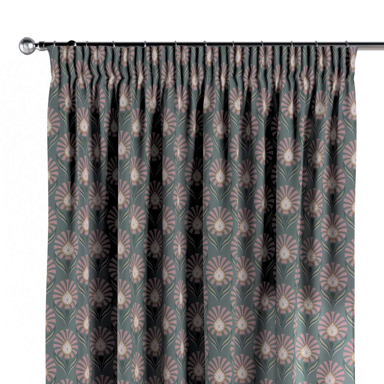 Gardin med rynkebånd 1 stk. fra kollektionen Gardenia, Stof: 142-17