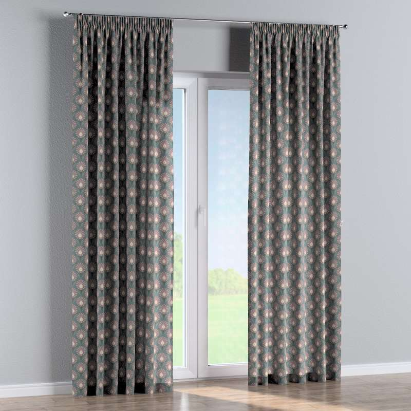Pencil pleat curtain in collection Gardenia, fabric: 142-17