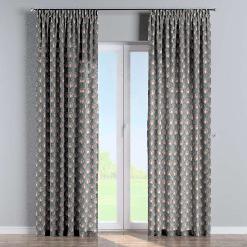 Pencil pleat curtains in collection Gardenia, fabric: 142-17