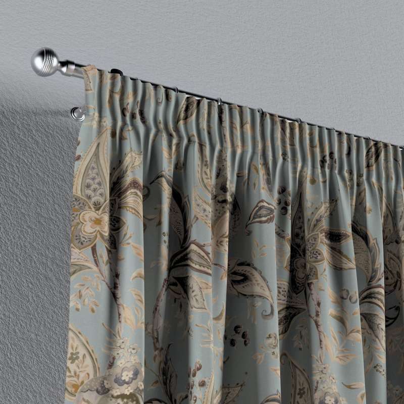 Pencil pleat curtain in collection Gardenia, fabric: 142-18