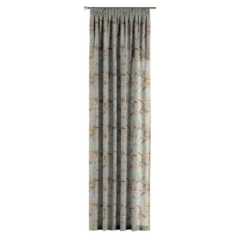 Gardin med rynkband 1 längd i kollektionen Gardenia, Tyg: 142-18
