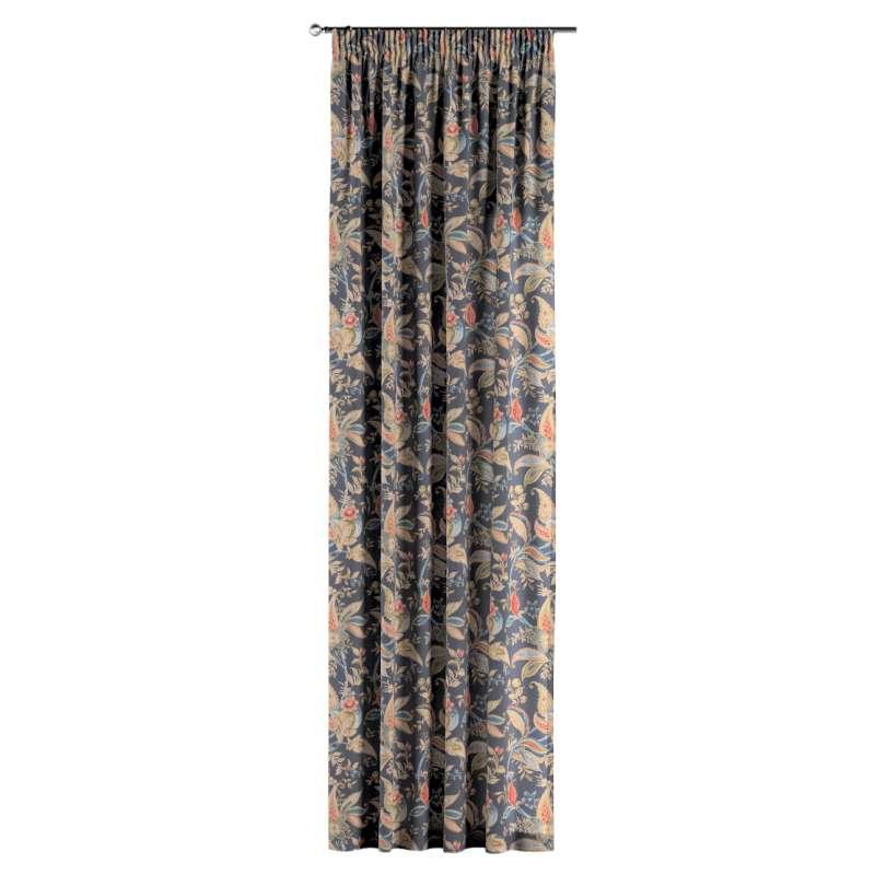 Gardin med rynkband 1 längd i kollektionen Gardenia, Tyg: 142-19