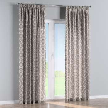 Pencil pleat curtains in collection Gardenia, fabric: 142-20