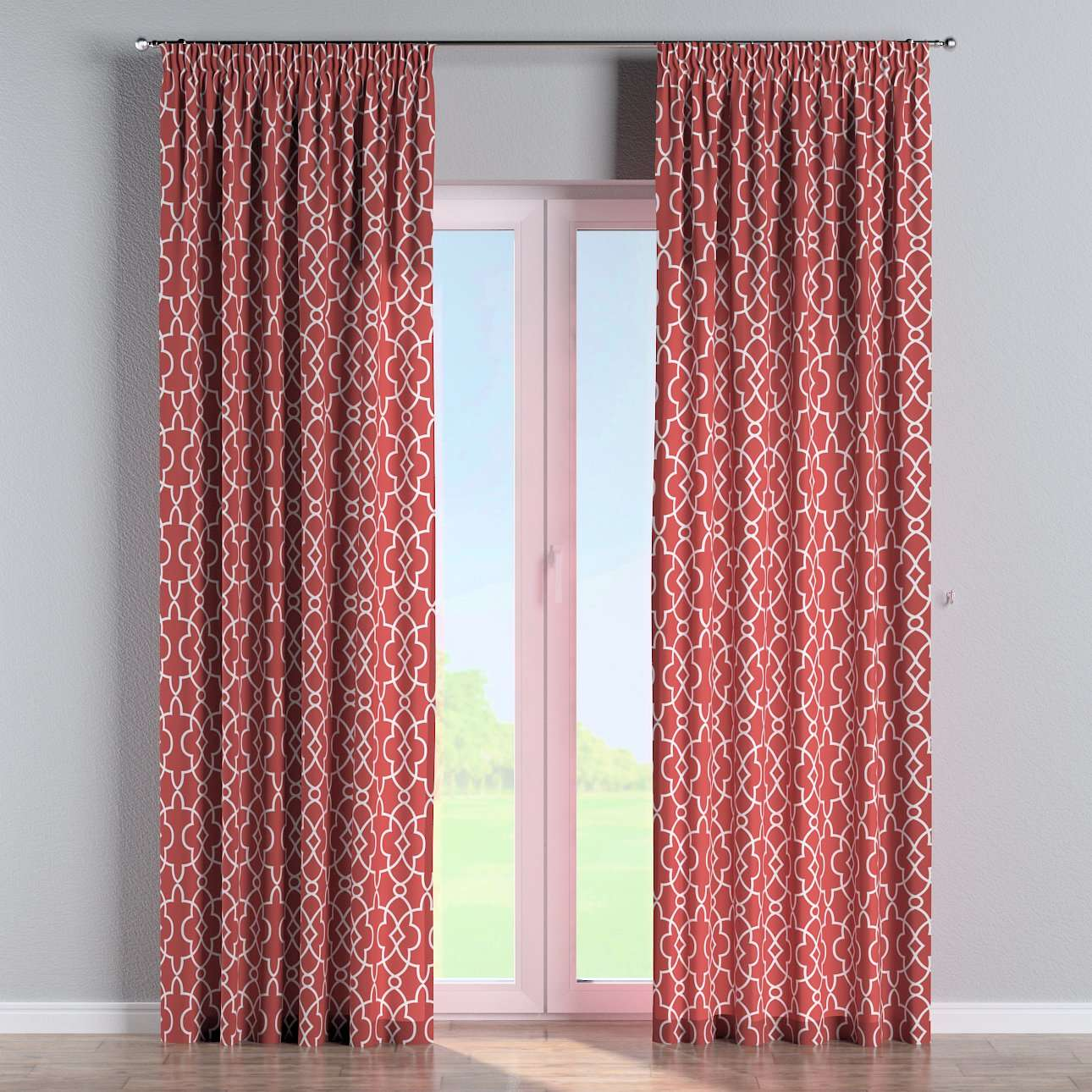 Pencil pleat curtains in collection Gardenia, fabric: 142-21