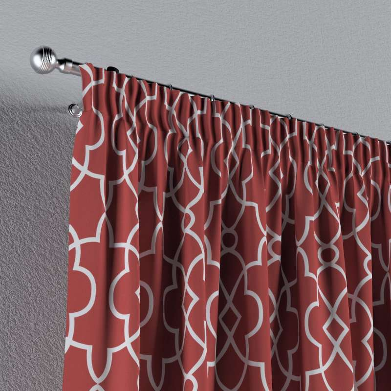 Pencil pleat curtain in collection Gardenia, fabric: 142-21