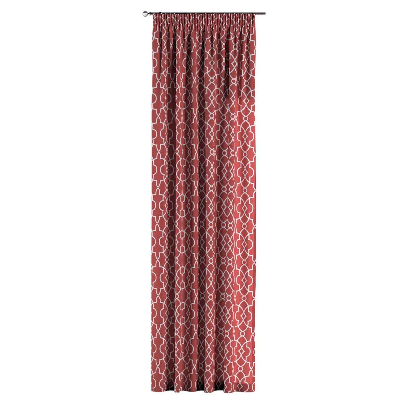 Gardin med rynkebånd 130 × 260 cm fra kollektionen Gardenia, Stof: 142-21