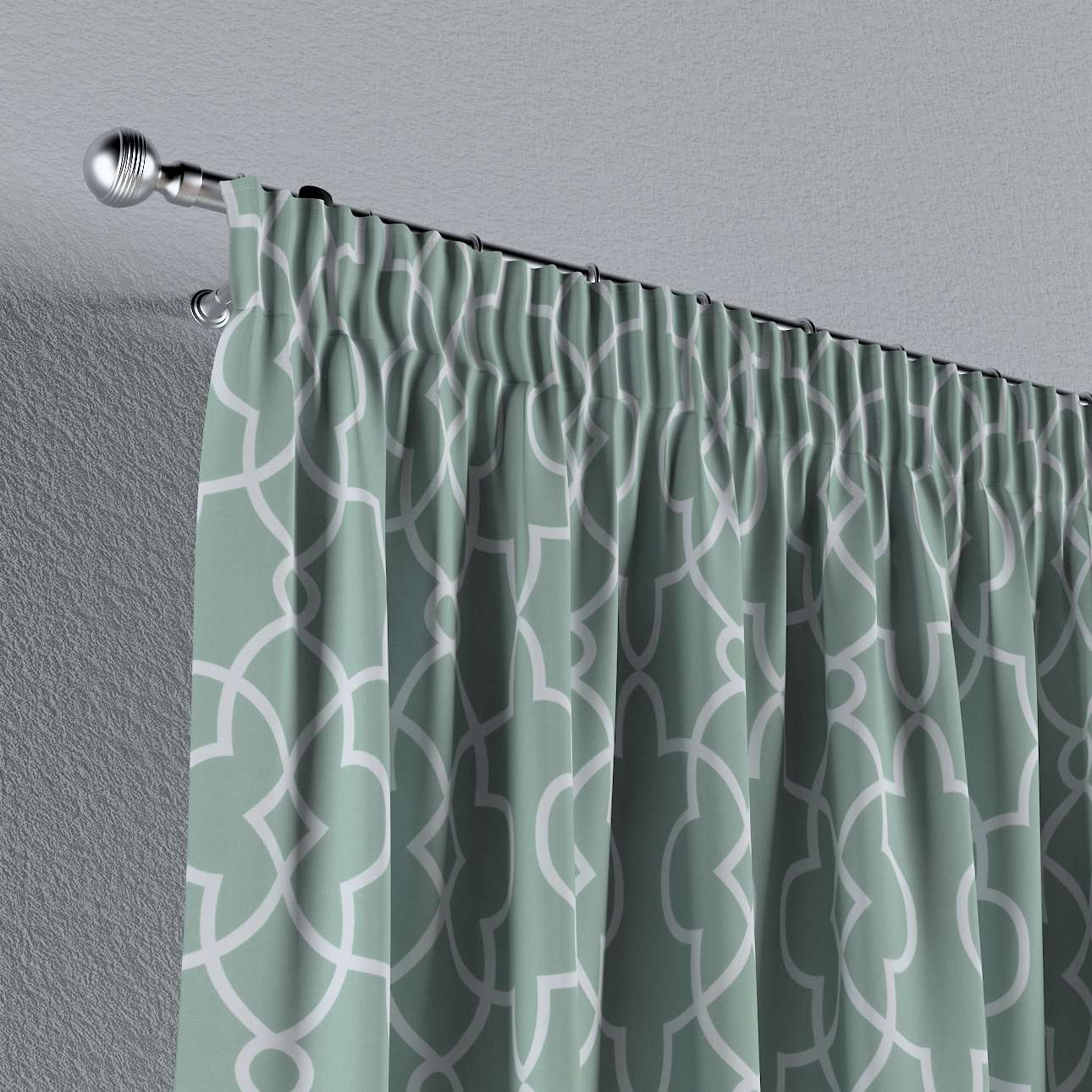 Pencil pleat curtains in collection Gardenia, fabric: 142-23