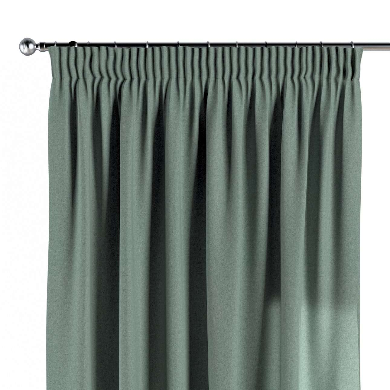 Pencil pleat curtains in collection Woolly, fabric: 142-31