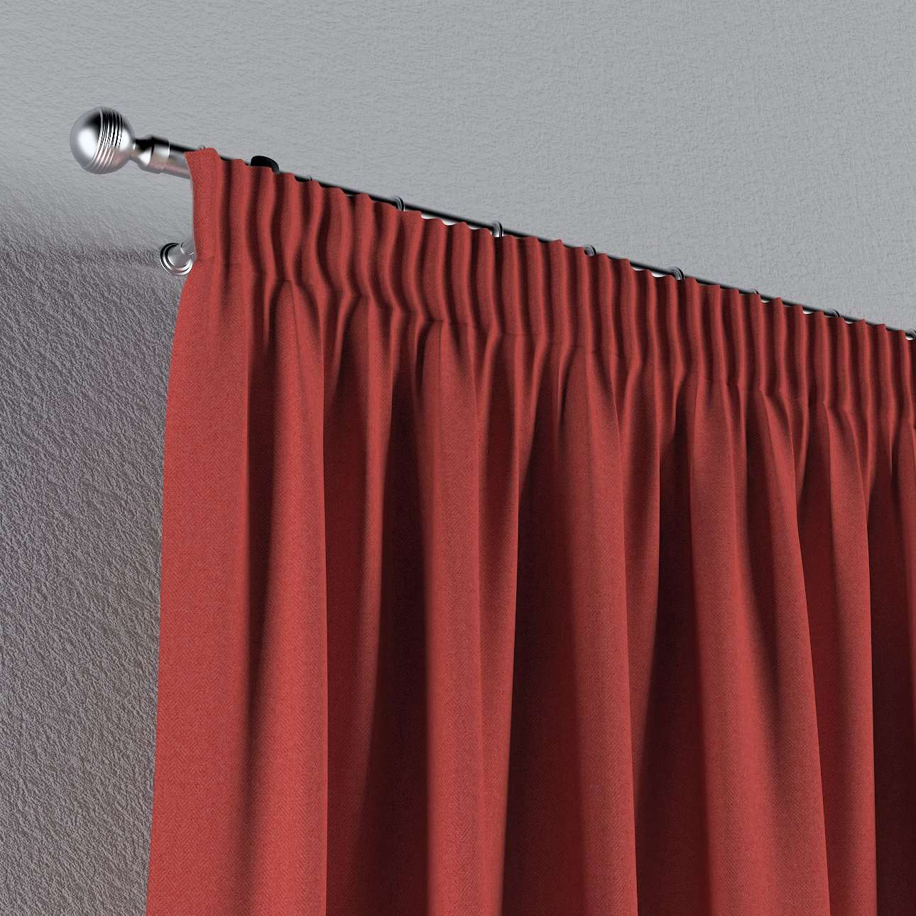 Pencil pleat curtains in collection Woolly, fabric: 142-33