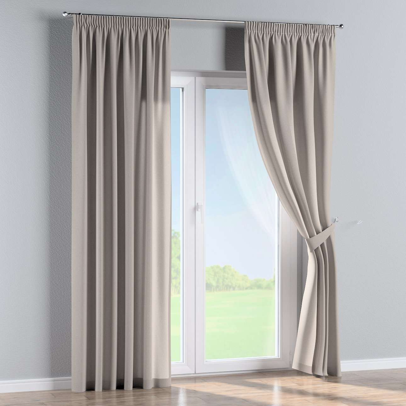 Pencil pleat curtains in collection Woolly, fabric: 142-35