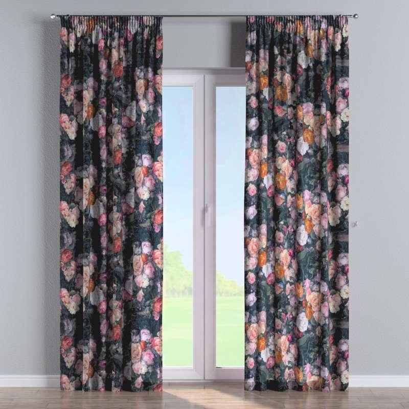 Pencil pleat curtain in collection Gardenia, fabric: 161-02