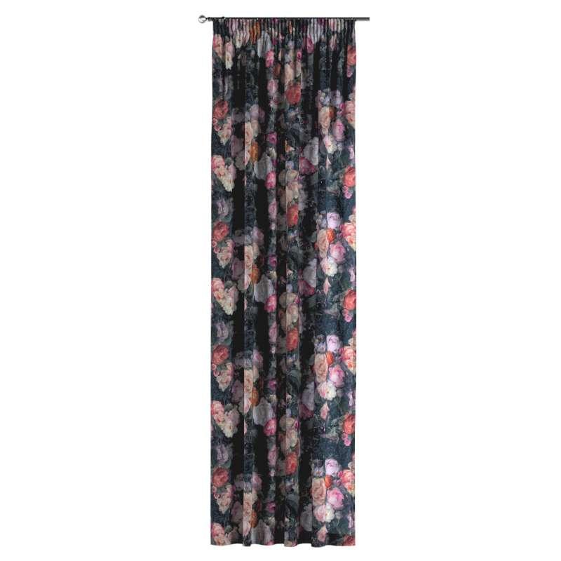 Zasłona na taśmie marszczącej 1 szt. w kolekcji Gardenia, tkanina: 161-02