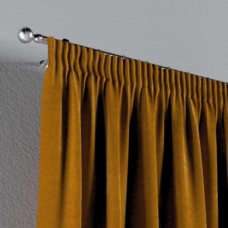 Gardin med rynkband 1 längd i kollektionen Velvet, Tyg: 704-23