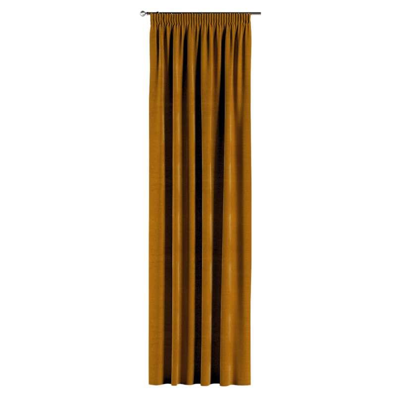 Vorhang mit Kräuselband von der Kollektion Velvet, Stoff: 704-23