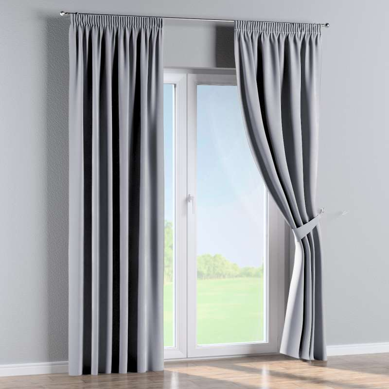 Pencil pleat curtain in collection Velvet, fabric: 704-24