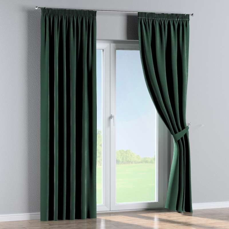 Pencil pleat curtain in collection Velvet, fabric: 704-25