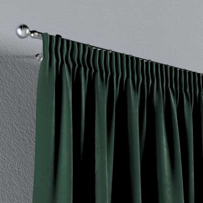 Pencil pleat curtains in collection Velvet, fabric: 704-25