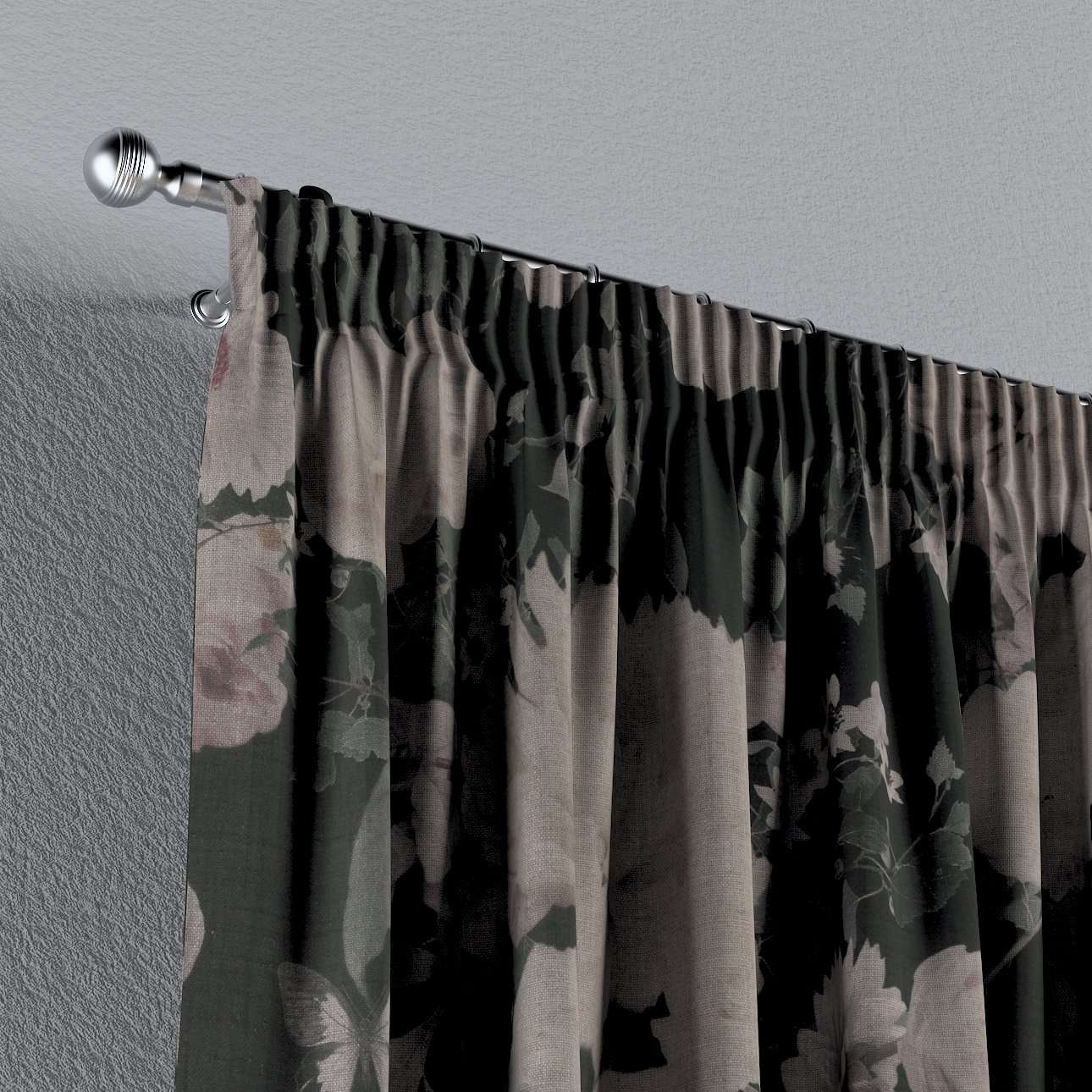 Pencil pleat curtains in collection Linen, fabric: 142-25